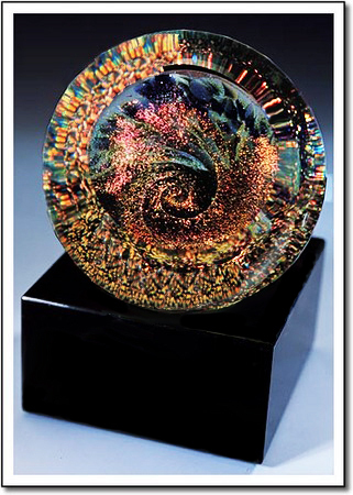Copper Galaxy Art Glass Award