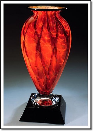 Diamond Blaze Mercury Art Glass Award