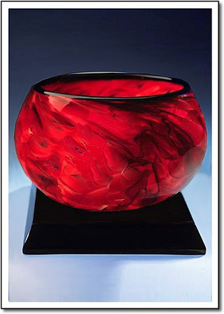 Rose Petal Art Glass Award