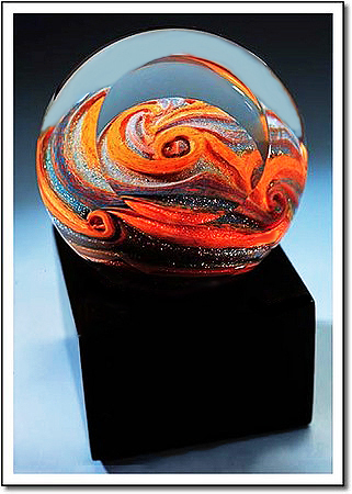 Jupiter Storm Art Glass Award