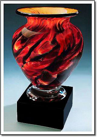 Swirling Embers Cauldron Art Glass Award