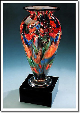 Autumn Splash Athena Art Glass Award