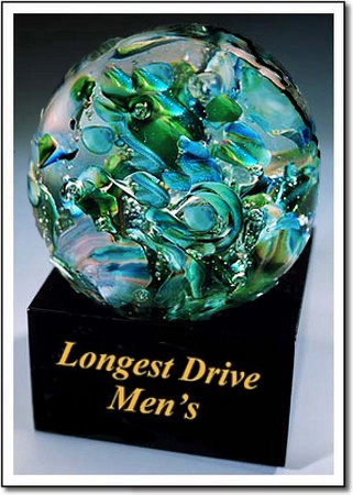 Longest Drive Men's Art Glass Award