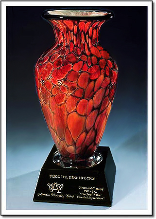 Club Masters Monarch Art Glass Award