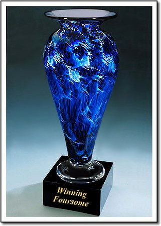 Winning Foursome Art Glass Award