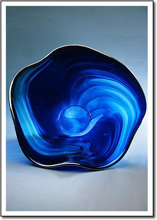 Glacier Ice Flow Art Glass Award