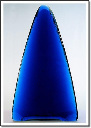Electric Blue Tower Art Glass Award