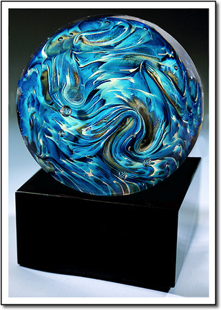 Blue Stratos Art Glass Award