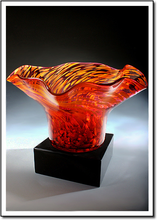 Ruby Rain Art Glass Award