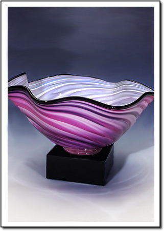 Lavender Wave Art Glass Award
