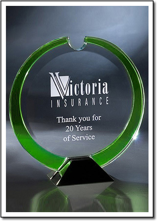 Emerald Wreath Art Glass Award