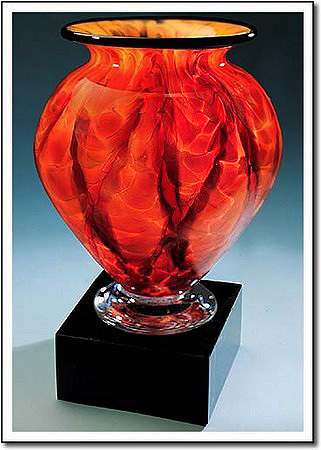 Diamond Blaze Cauldron Art Glass Award