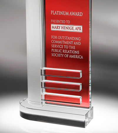 Ruby Marquee Art Glass Award
